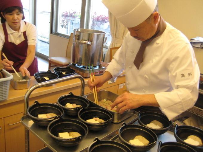 病棟内調理 湯豆腐