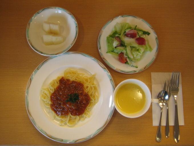 病棟内調理 ミートソーススパゲティ