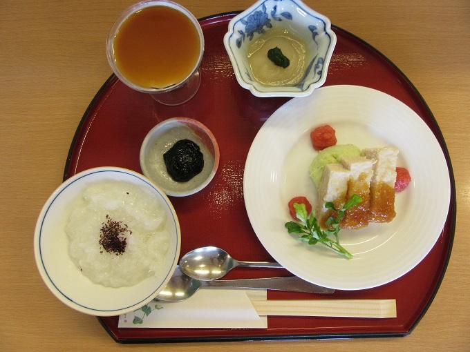 病棟内ソフト食蒸鳥の野菜おろしソース(2)IMG_0181