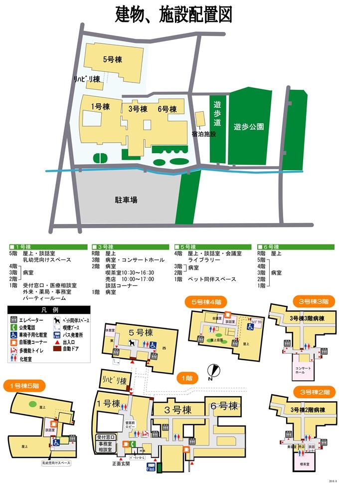 建物、施設 配置図